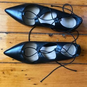loeffler randall Ambra lace up flats size 8